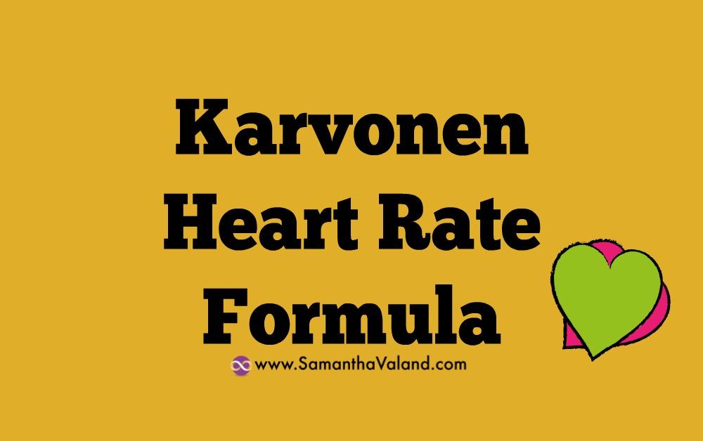 Karvonen Heart Rate Formula