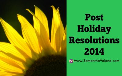 Post Holiday Resolutions 2014