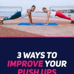two women exercising pushups